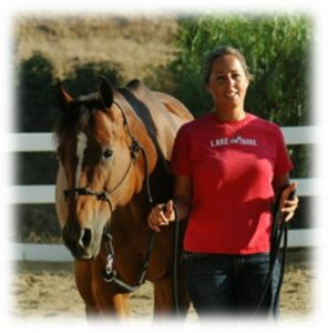 Melissa with her horse Lacey